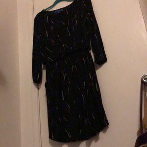 Apt 9 fun print long sleeved dress WITH POCKETS!
